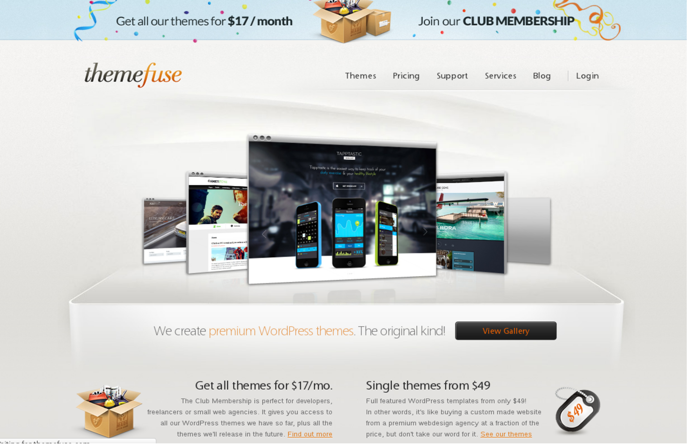 Themefuse WordPress Theme Club - only Best wordpress themes and Support