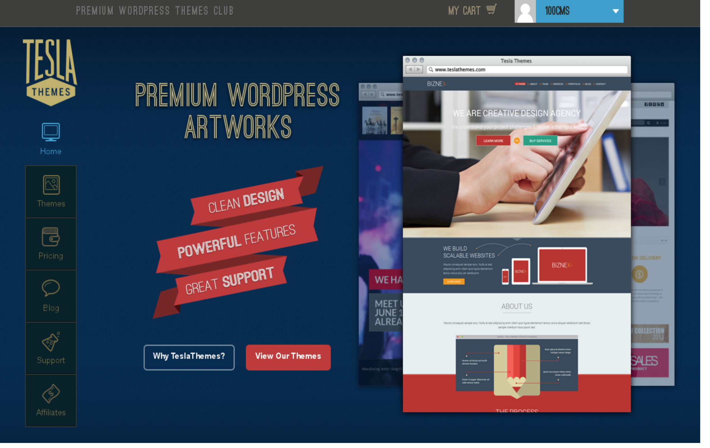 Teslathemes WordPress Theme Club