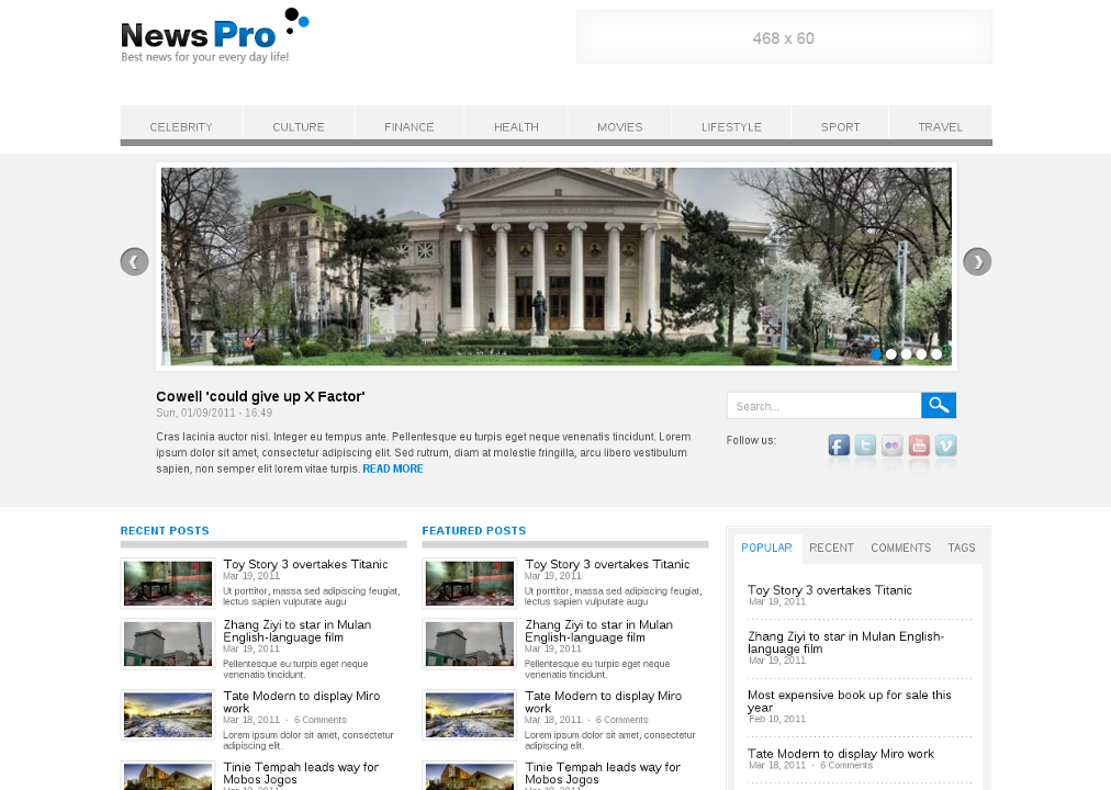 News Pro Theme - Drupal News Theme