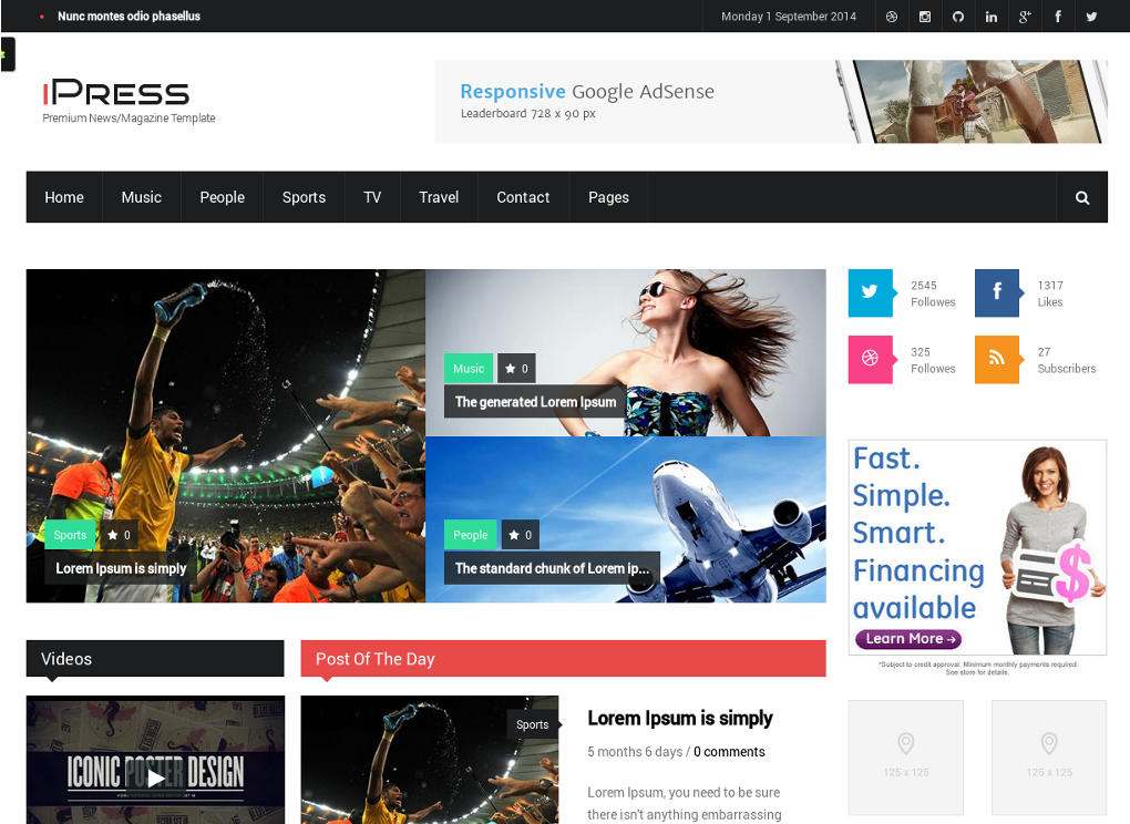 iPress - Drupal News Theme