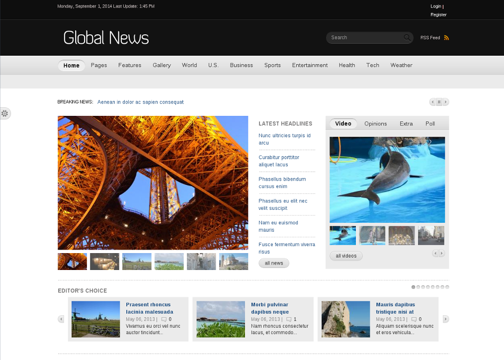 Global News Portal - Drupal  News Theme