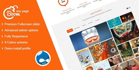 Boom - One Page Drupal Theme