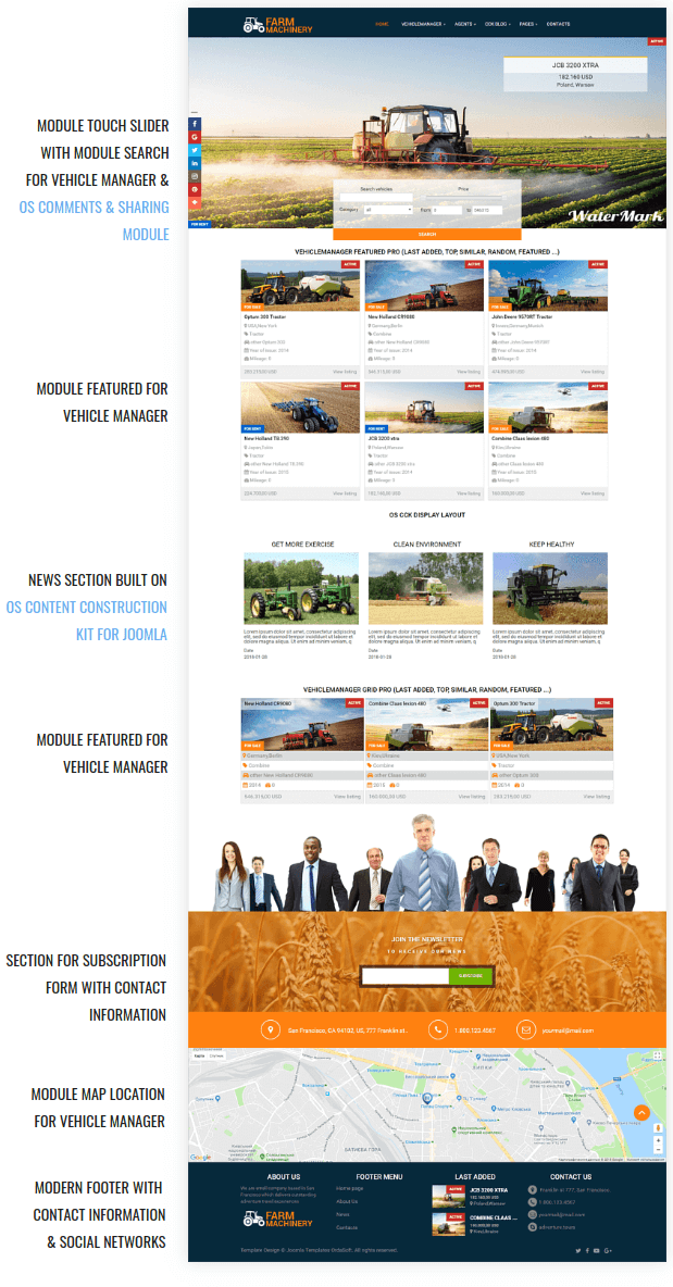 Farm Machinery Agriculture Joomla Template