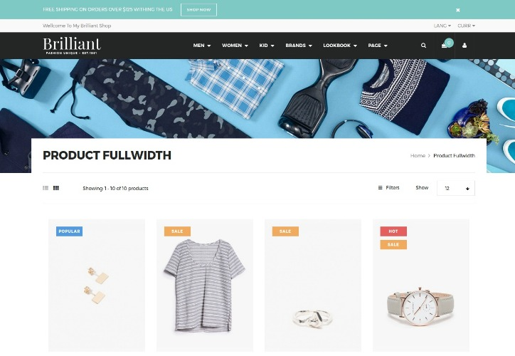 Brilliant - Morden Commerce Drupal Theme