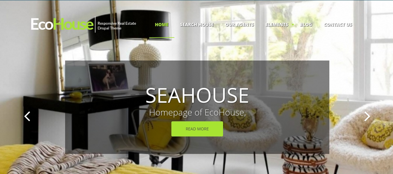 Eco House - Real Estate Drupal Commerce Theme