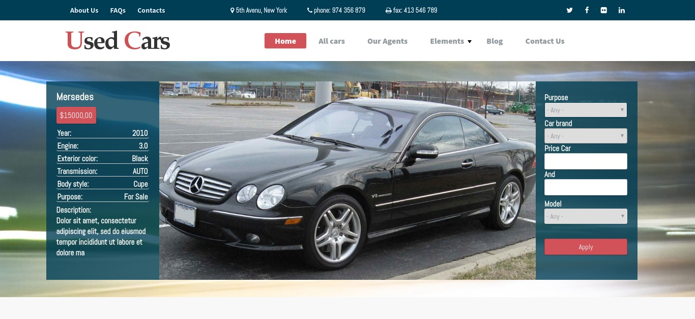 Used Cars - Car Drupal Commerce Theme