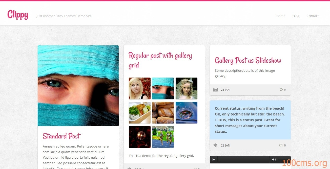 Clippy - Wordpress Blog Template