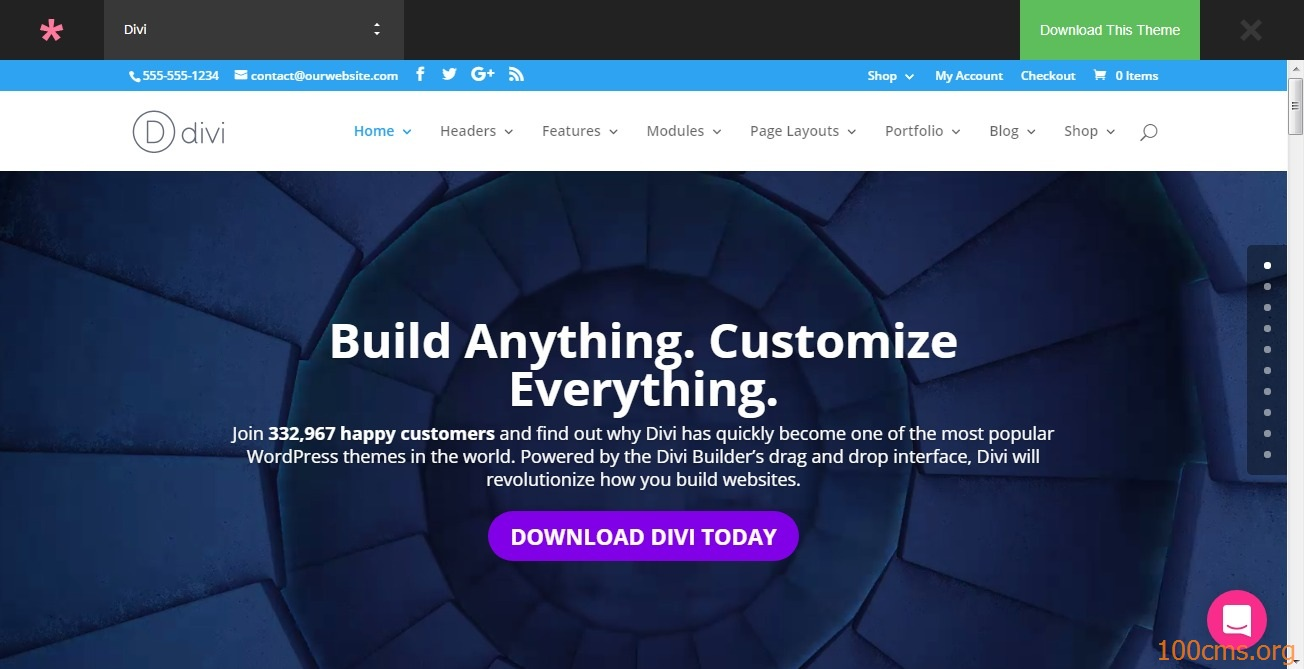 Divi - Wordpress Blog Template