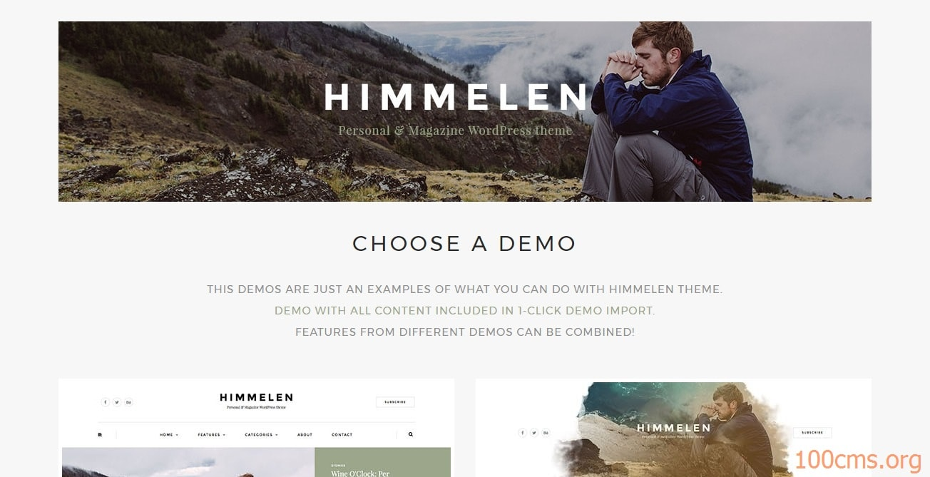 Himmelen - Wordpress Blog Template