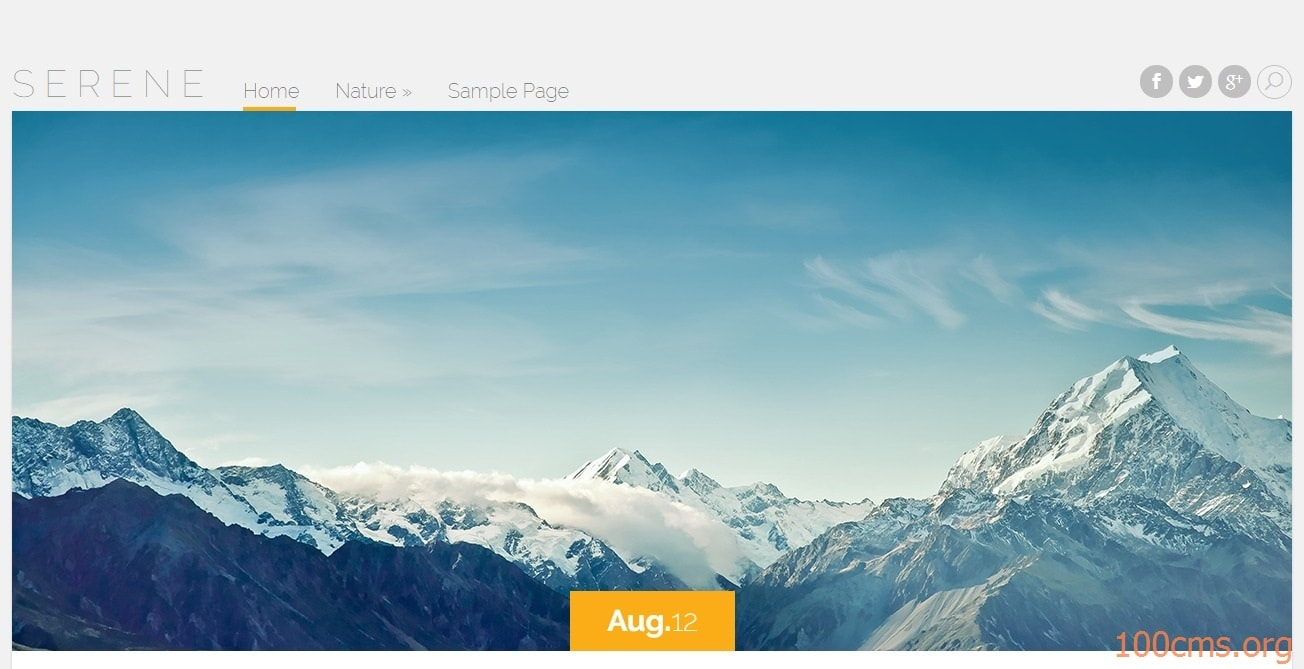 Serene - Wordpress Blog Template
