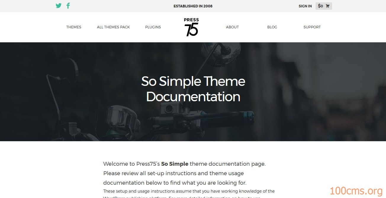 simple - Wordpress Blog Template
