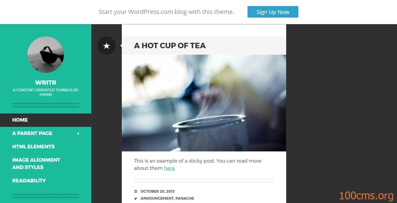 Writr - Wordpress Blog Template