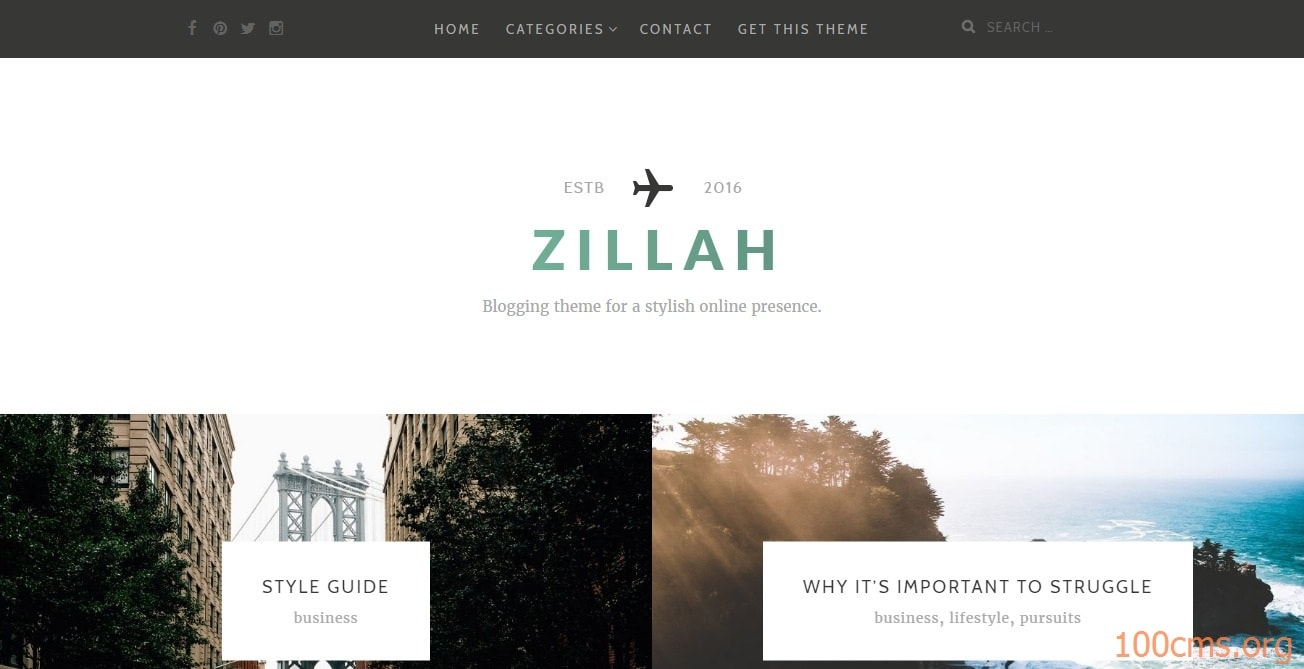 Zillah - Wordpress Blog Template