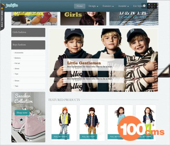 Free Kids Store Joomla VirtueMart Template