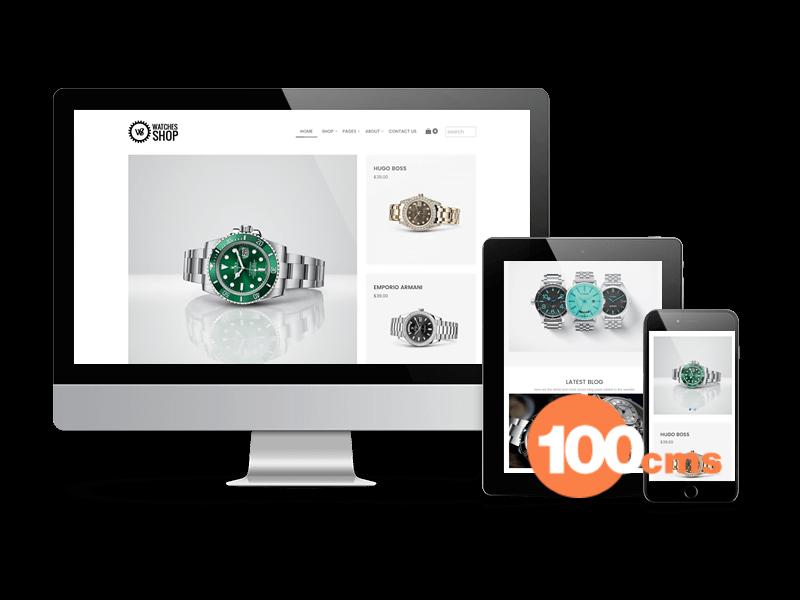Watches Shop - Free Virtuemart Joomla template