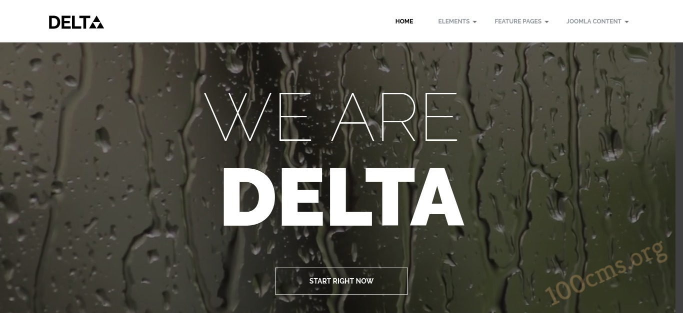 Delta - Joomla Video Background Template
