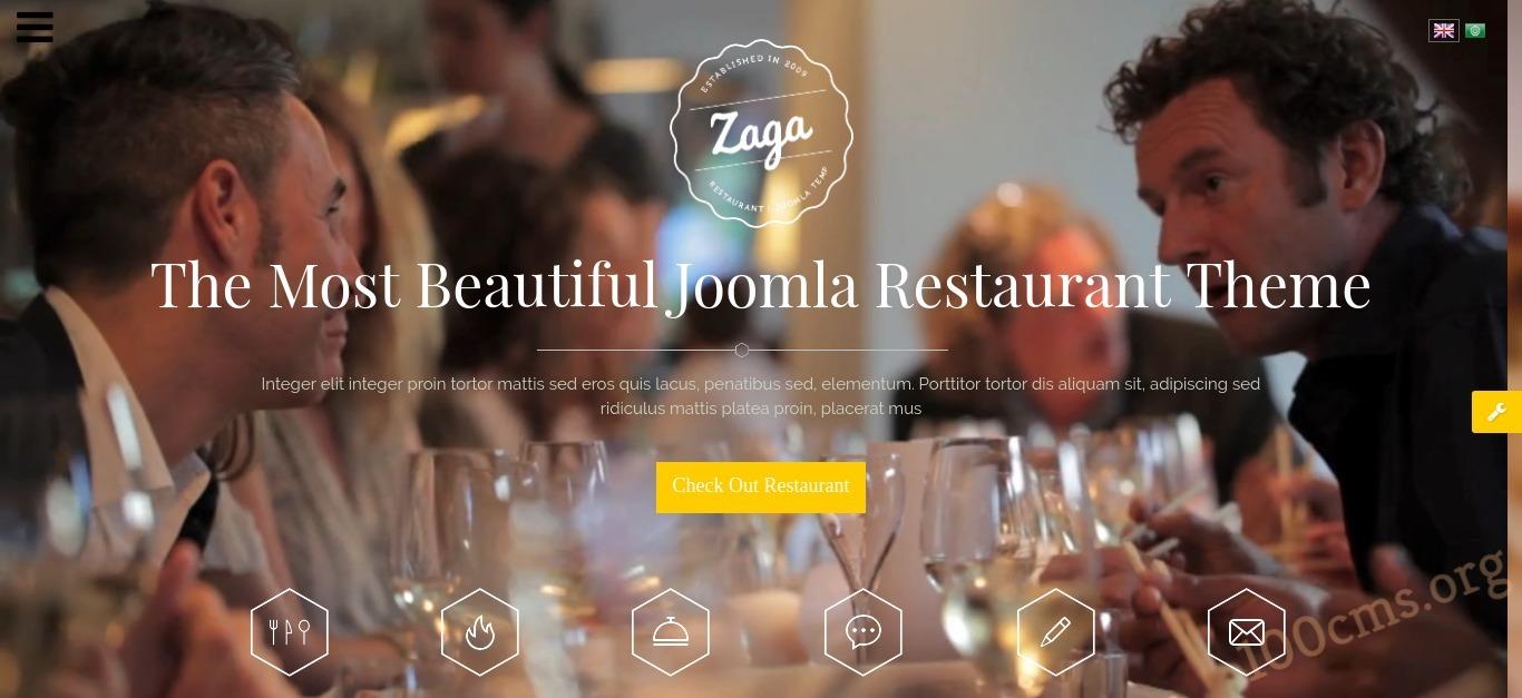SJ Zaga Video Background One-page Design Joomla Template