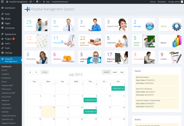 Bhavinpatel Wordpress Extension: Hospital Management System for Wordpress