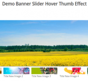 Joomla extension Banner Slider Hover Thumb Effect