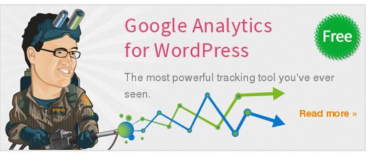 Wordpress Plugin: Google Analytics for WordPress
