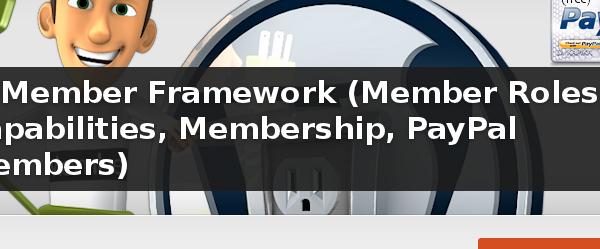 Wordpress Plugin: s2Member Framework