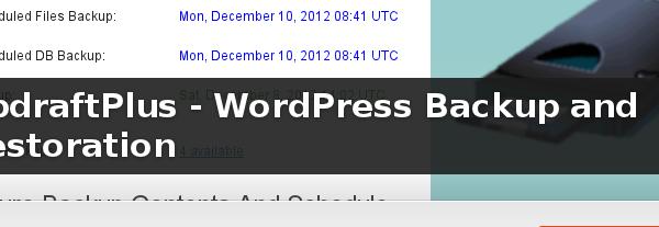Wordpress Plugin: UpdraftPlus - WordPress Backup and Restoration