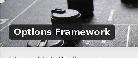 Wordpress Plugin: Options Framework
