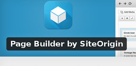 Wordpress Plugin: Page Builder by SiteOrigin