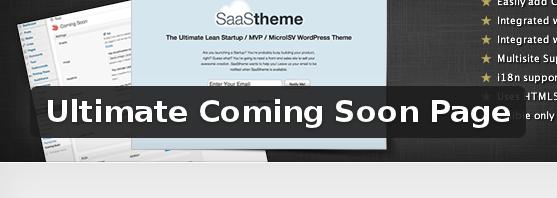 Wordpress Plugin: Ultimate Coming Soon Page