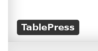 Wordpress Plugin: TablePress