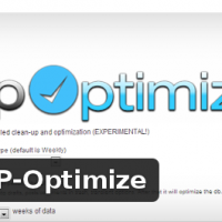 Wordpress Free plugin - WP-Optimize