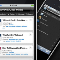Wordpress extension WPtouch Mobile Plugin