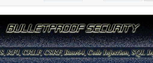 Wordpress Plugin: BulletProof Security