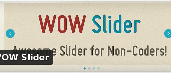 Wordpress Plugin: WOW Slider