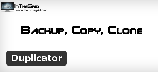 Wordpress Plugin: Duplicator