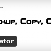 Wordpress extension Duplicator