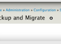 Drupal extension Backup and Migrate