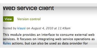 Drupal Module: Web service client