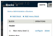 Drupal Module: Menu block