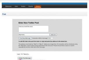 Pete Opencart Extension: Twitter interface