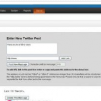 Opencart extension Twitter interface