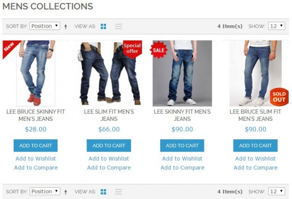 John abraham Magento Extension: Apptha's Magento Product Labels Extension