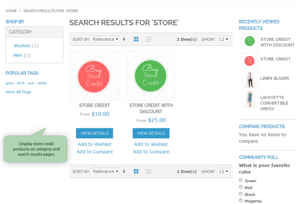 Amasty Magento Extension: Magento Store Credit by Amasty