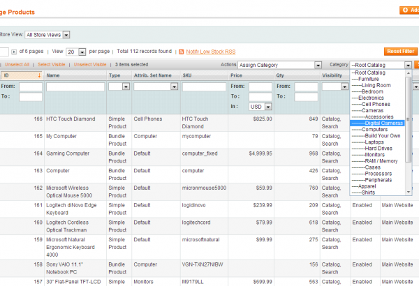 Amasty Magento Extension: Magento Mass Product Actions