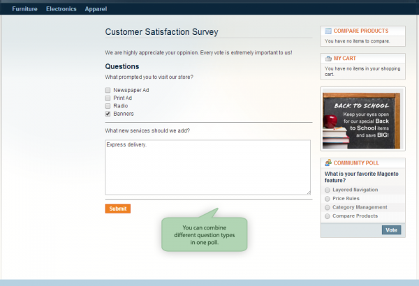Amasty Magento Extension: Magento Survey Extension