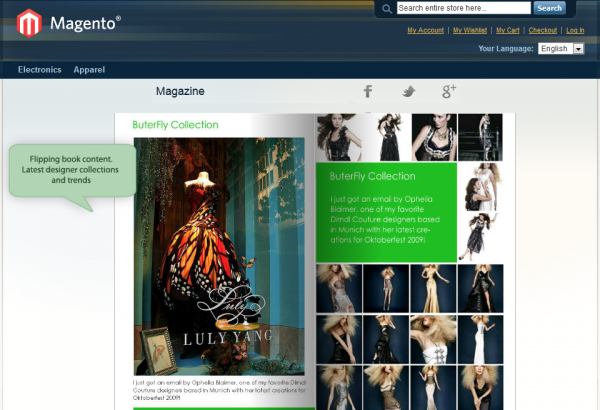 Amasty Magento Extension: Magento HTML5 Flipping Book