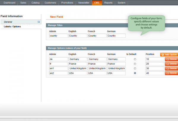 Amasty Magento Extension: Magento Custom Form by Amasty