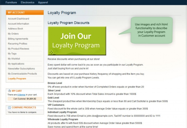 Amasty Magento Extension: Magento Loyalty Program