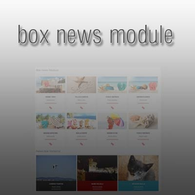 Joomla Extension: BoxNews module