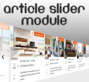 Extensions Joomla: Articles slider module